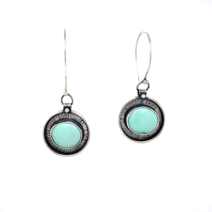 Seaside Morning Glory Variscite Earrings