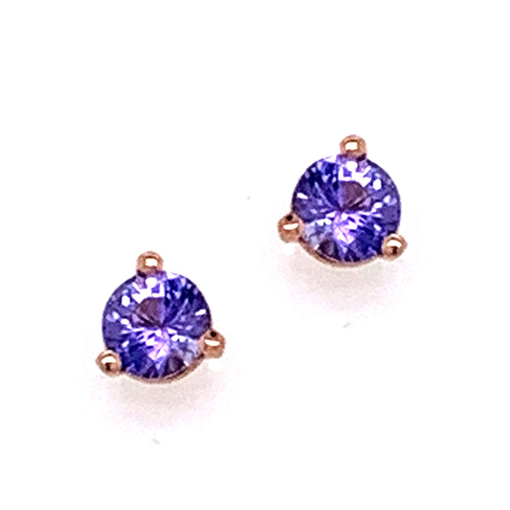 Purple Montana Sapphire Martini Stud Earrings
