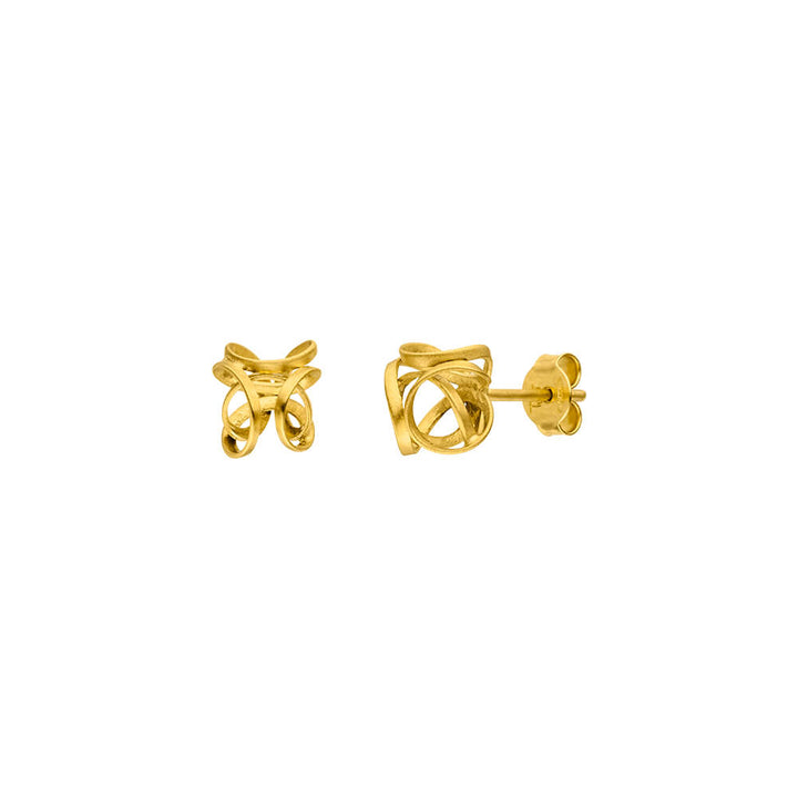Gold Twisted Post Earring