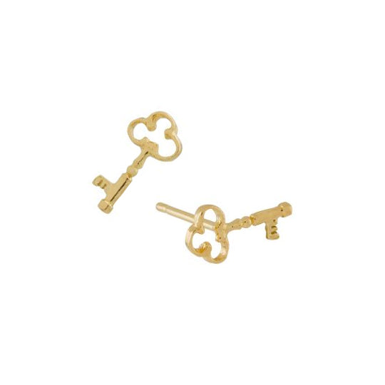 Teeny Tiny Garden Key Stud Earrings