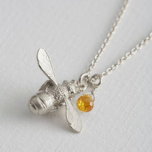 Honey Bee and Citrine Necklace