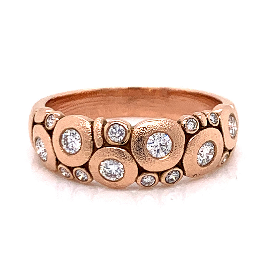 """Candy"" Dome Ring with Diamonds"