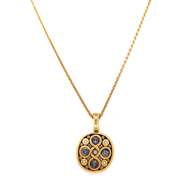 Celtic Spring Knot Necklace with Yogo and Diamond detail