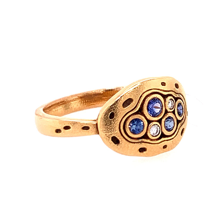 Little Pools Ring with Yogo Sapphires