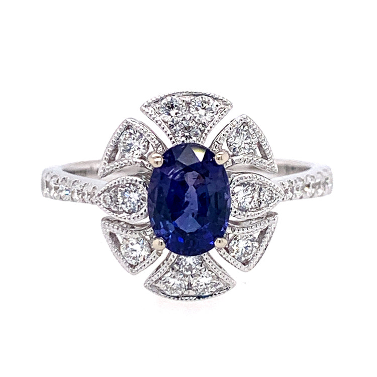 """Midnight Sonata"" Montana Sapphire & Diamond Ring"