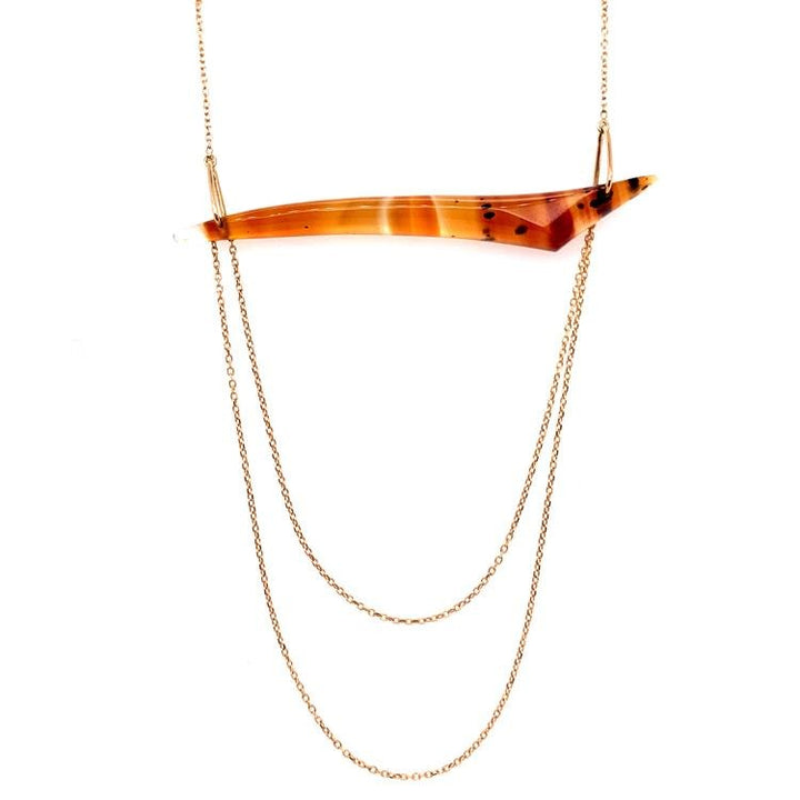 "Montana Agate ""Sandbar"" Necklace"