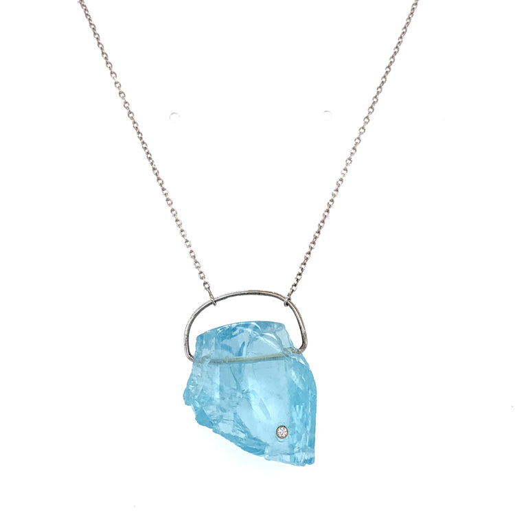 "Aquamarine ""Glacial"" Necklace"