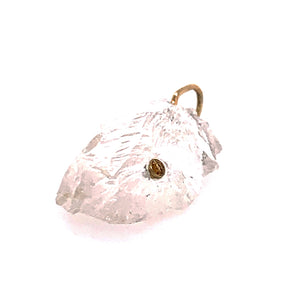 "Rock Crystal and Citrine ""Sunshine"" Pendant"