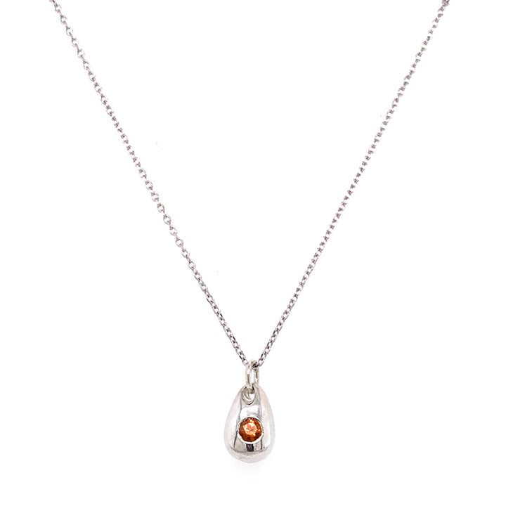 "Orange ""Sunshower"" Montana Sapphire Necklace"