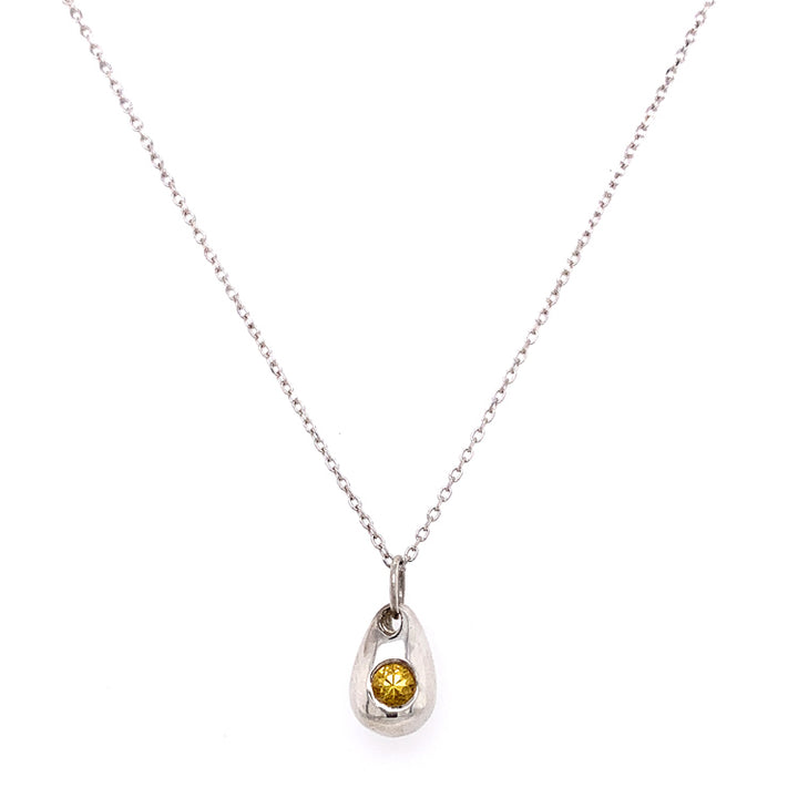 "Yellow ""Sunshower"" Montana Sapphire Necklace"