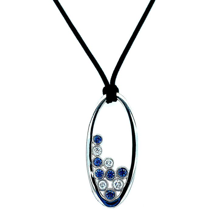 Yogo Sapphire & Diamond Bubble Necklace