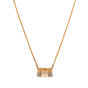 """Oro Y Plata"" Diamond Necklace"