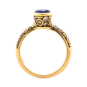 Martini Ring with Montana Sapphire