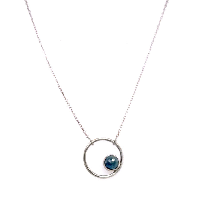 """Sapphire Circle"" Necklace"