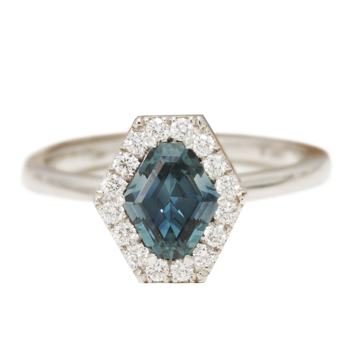 Danhov Shield Shaped Montana Sapphire Ring