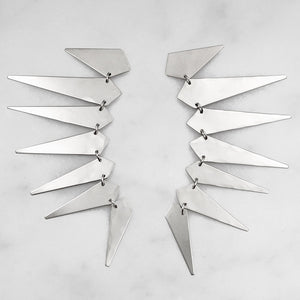 """Thunderdome"" Sterling Silver Earrings"