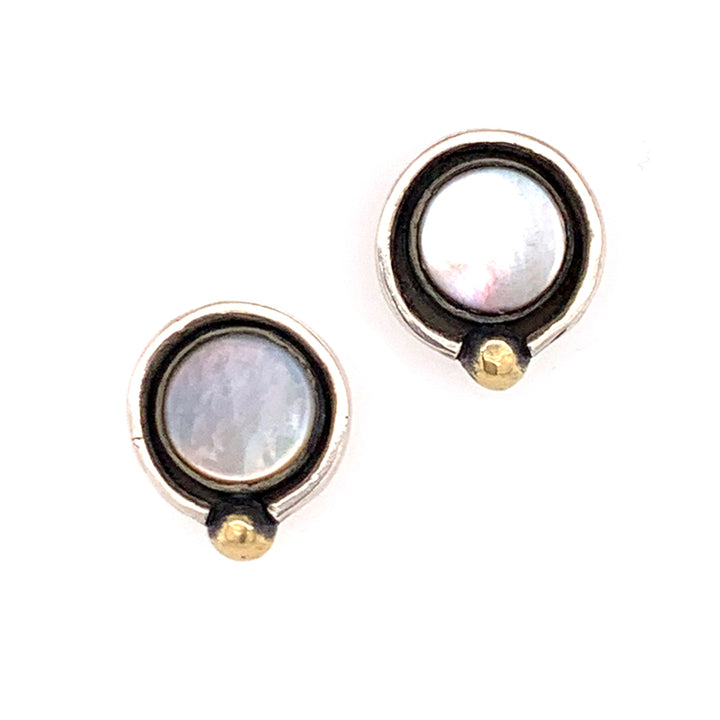 Mother-of-Pearl Solar Earrings