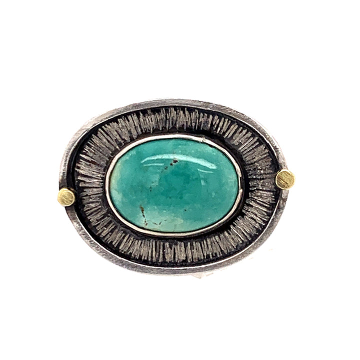 Rich Teal Royston Turquoise Ring