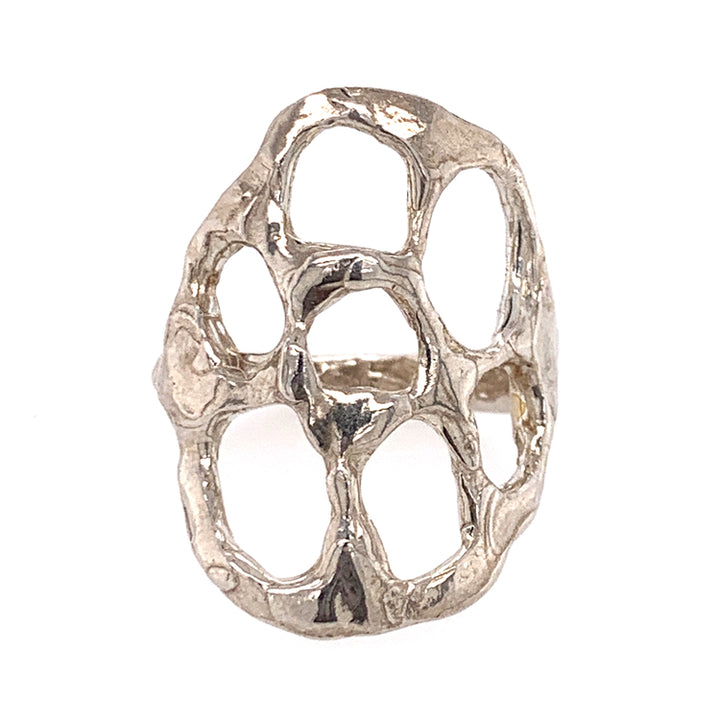 Organic Shield Sterling Silver Ring by Ciara Easterling