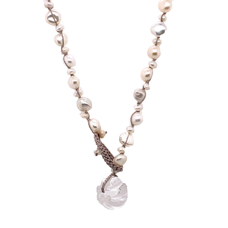 """Glass Slipper"" Pearl Necklace"