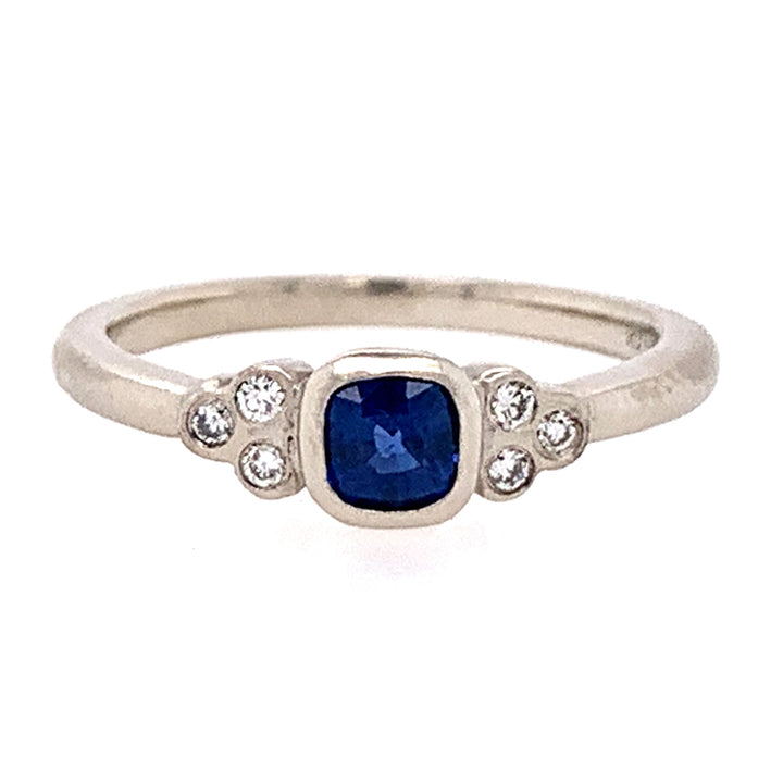 Rebecca Overmann Yogo Sapphire & Diamond Cluster Ring