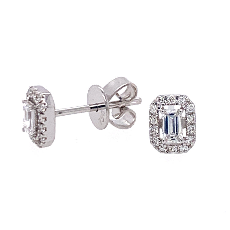 Radiating Diamond Stud Earrings