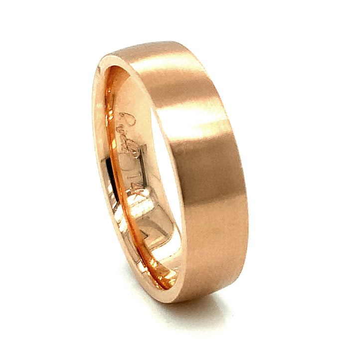 Brushed Rose Gold Band
