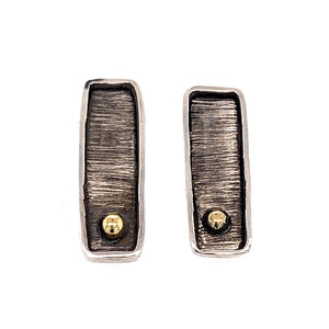 Sun Bar Stud Earrings