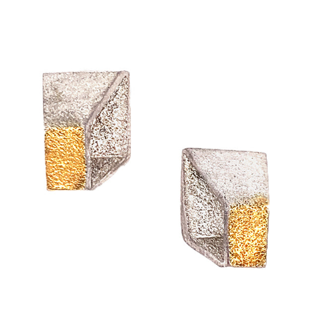 """Golden Cubism"" Earrings"