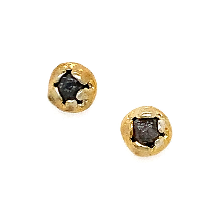 """Aglaia"" Raw Diamond Studs"