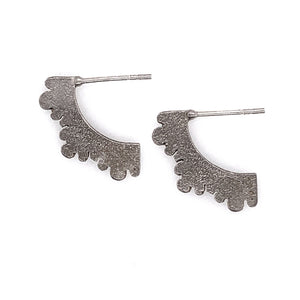 """Silver Lace"" Fanned Earrings"