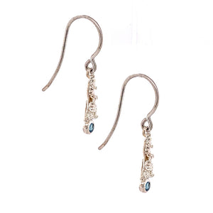 """Blue Elemental"" Drop Earrings"