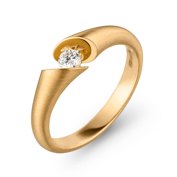 """CALLA"" Diamond Solitaire Ring"