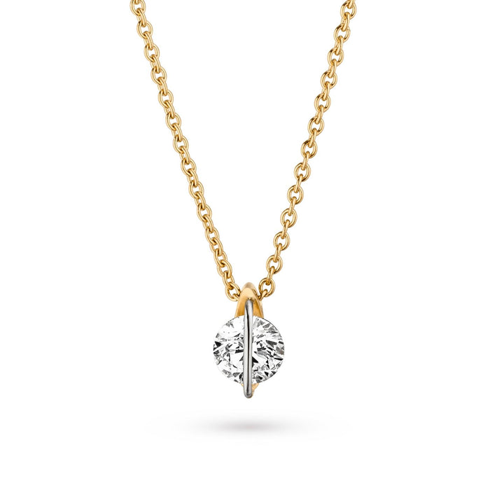 LIBERTÉ Diamond Solitaire Necklace