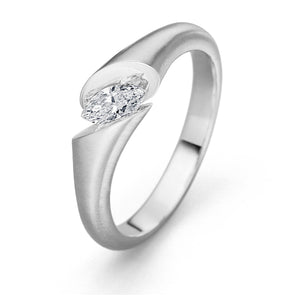 Floating Marquise Diamond Engagement Ring by Gebruder