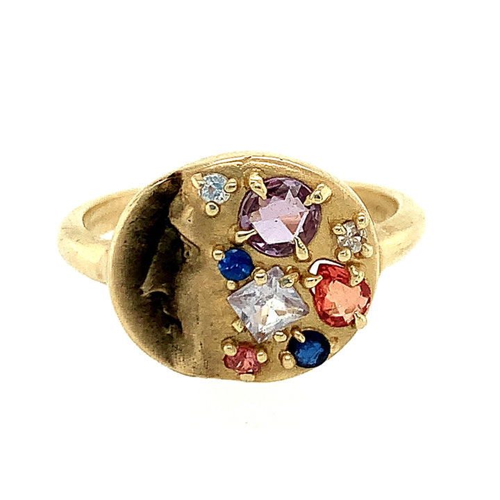 """Gold of Memories"" Sapphire & Diamond Ring"