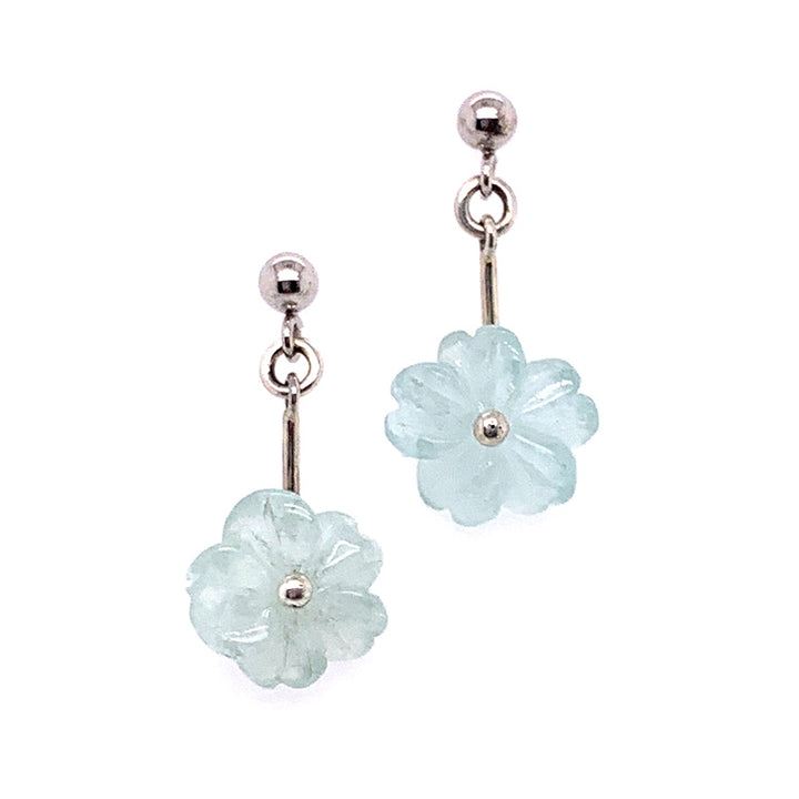 "Aquamarine ""Flora"" Earrings"