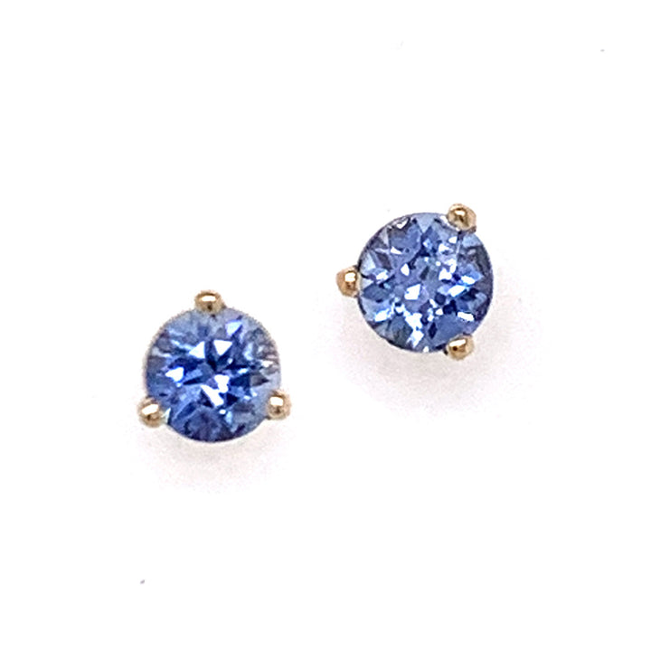 Sky Blue Montana Sapphire Martini Stud Earrings