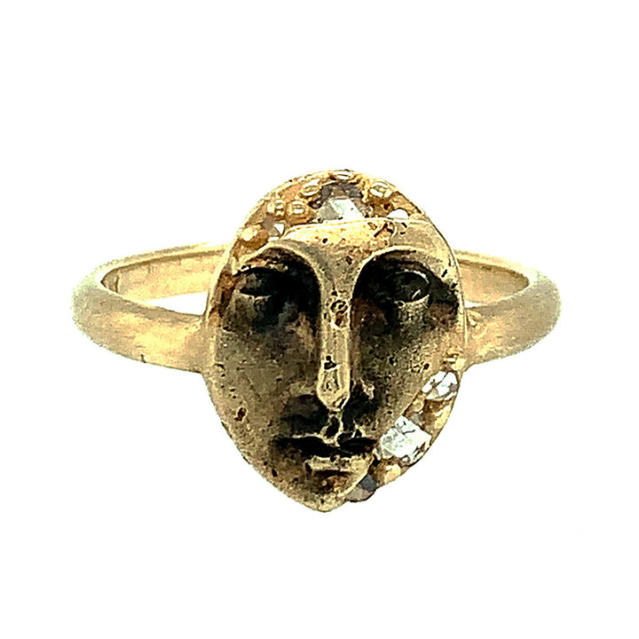 """Peering Visage"" Rosecut Diamond Ring"