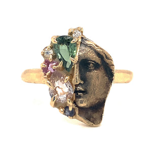 """The Face of the Oracle"" Sapphire Ring"