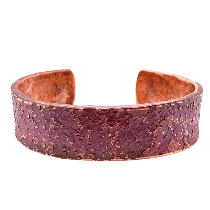 'Granite' Wide Copper Cuff
