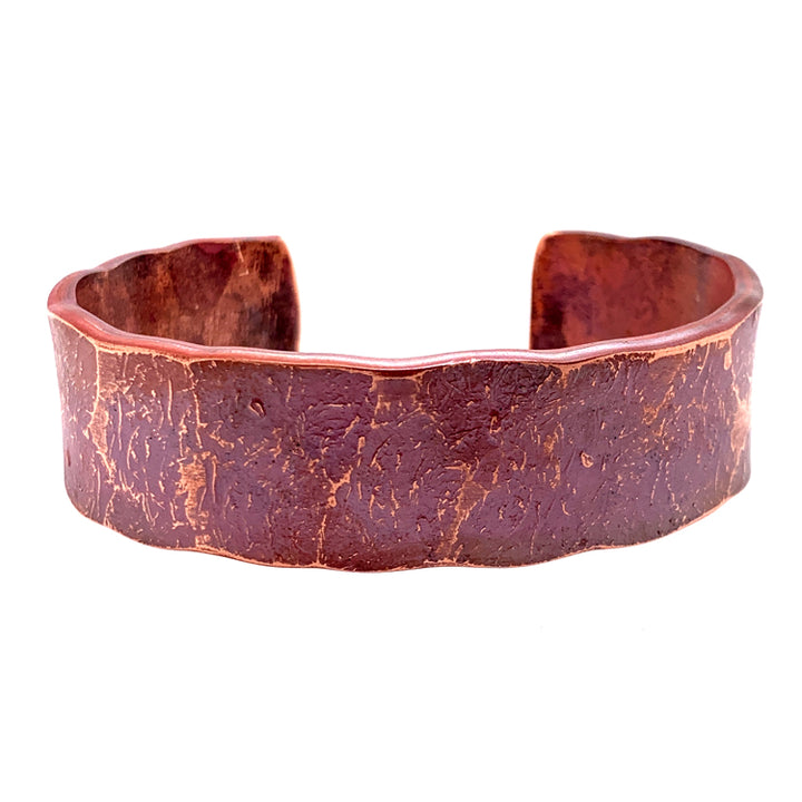 'Sea Floor' Wide Copper Cuff