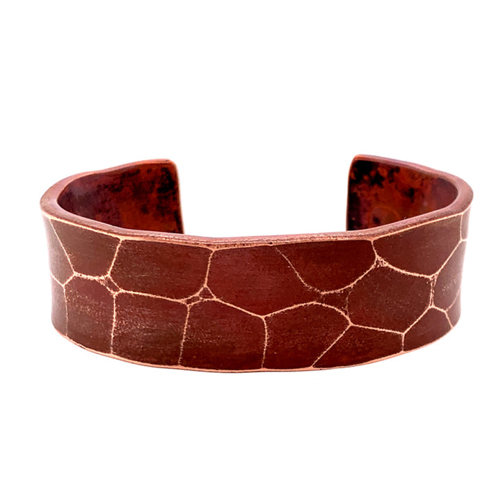 'Tortoise' Wide Copper Cuff