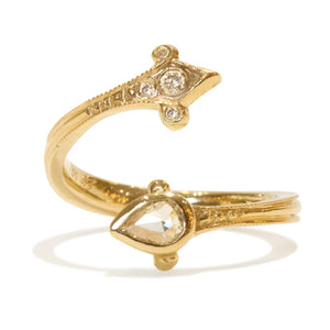 Julie Romanenko Diamond Dagger Open Ring