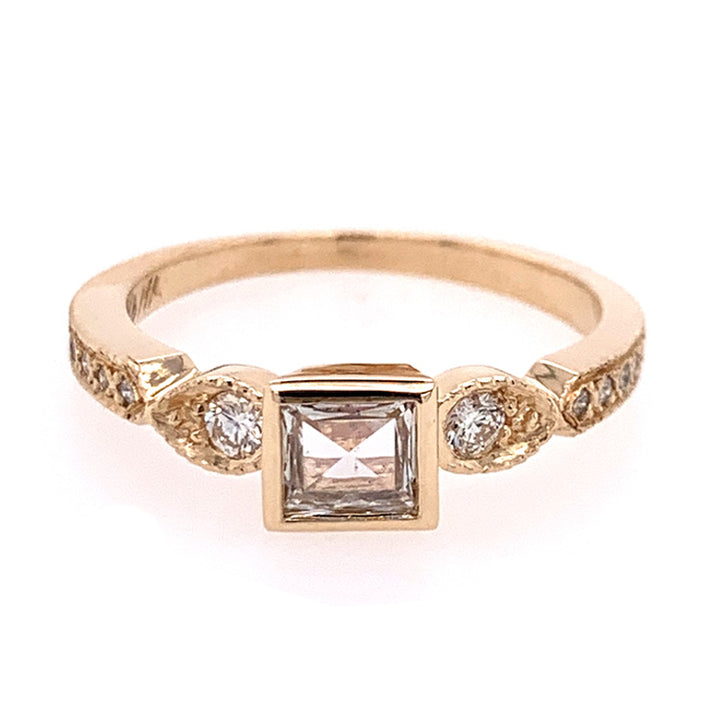 "Art Deco Inspired ""Lillian"" Diamond Ring"