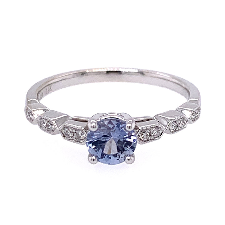 Icy Light Blue Montana Sapphire & Diamond Ring
