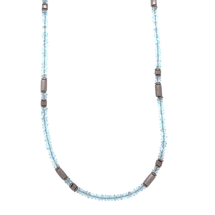Blue Topaz Rondelle Necklace