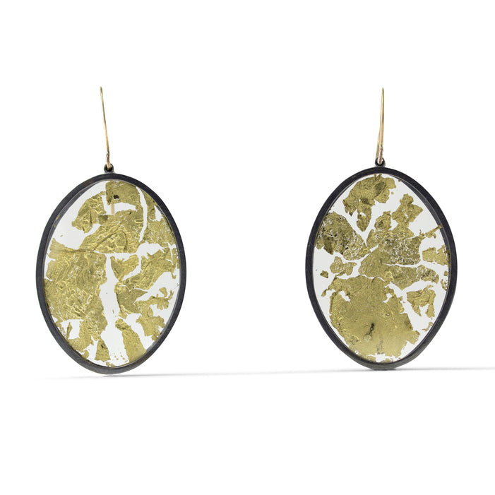 Luana Coonen | Gold Leaf Encased Earrings