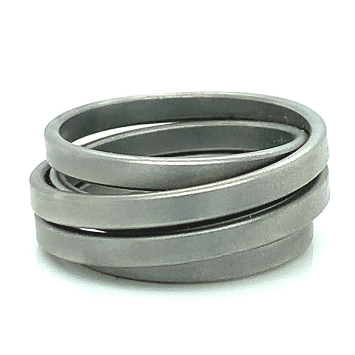 "Stainless Steel ""Saturn"" Ring"