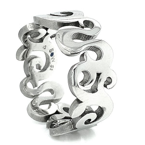 """Tendril"" Steel Ring"
